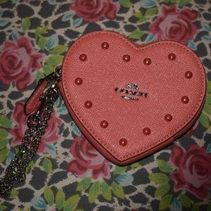 NWT Coach Heart Coin Purse